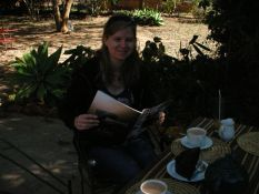 Sarah in Zim with Hello
